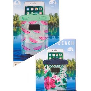 Watermelon or Floral Waterproof Cell Phone Case